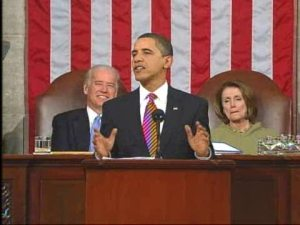 It was a just a coincidence that President Obama delivered his not-State-of-the-Union speech on Mardi Gras. Probably.