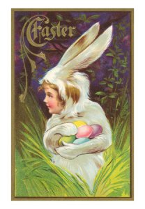 ea-00004-ceaster-girl-in-rabbit-suit-with-eggs-posters