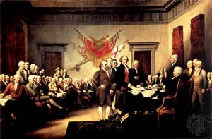 """Declaration of Independence,"" by John Trumbull, 1817"